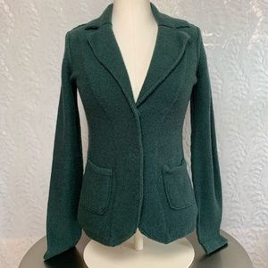 CAbi Cardigan Button Down Sweater-Green-Size Small